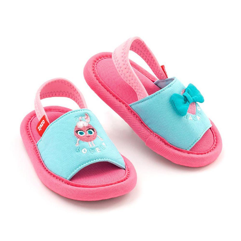 韓國 OZKIZ - 消音防滑室內鞋-鬆緊帶款(布萊德理髮廳)-粉紅