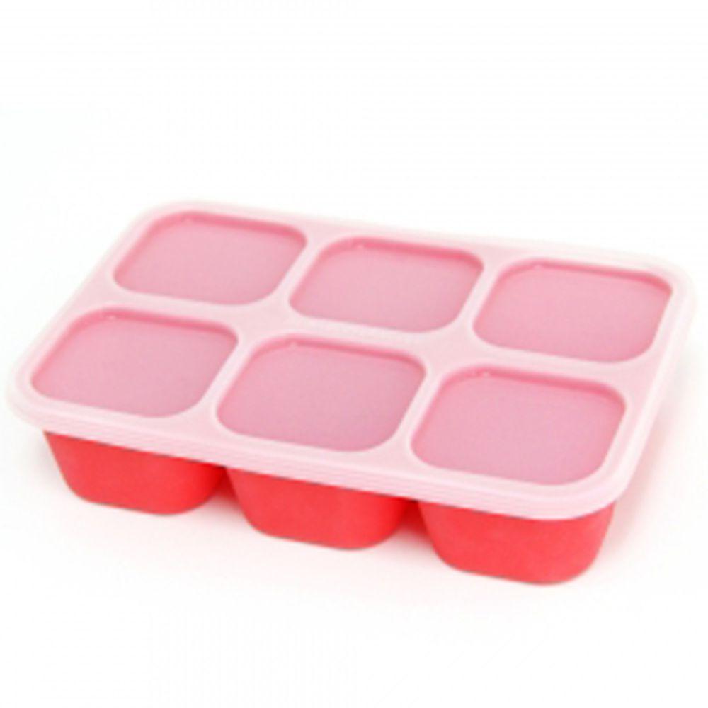 MARCUS&MARCUS - 動物樂園造型矽膠副食品分裝保存盒-紅色