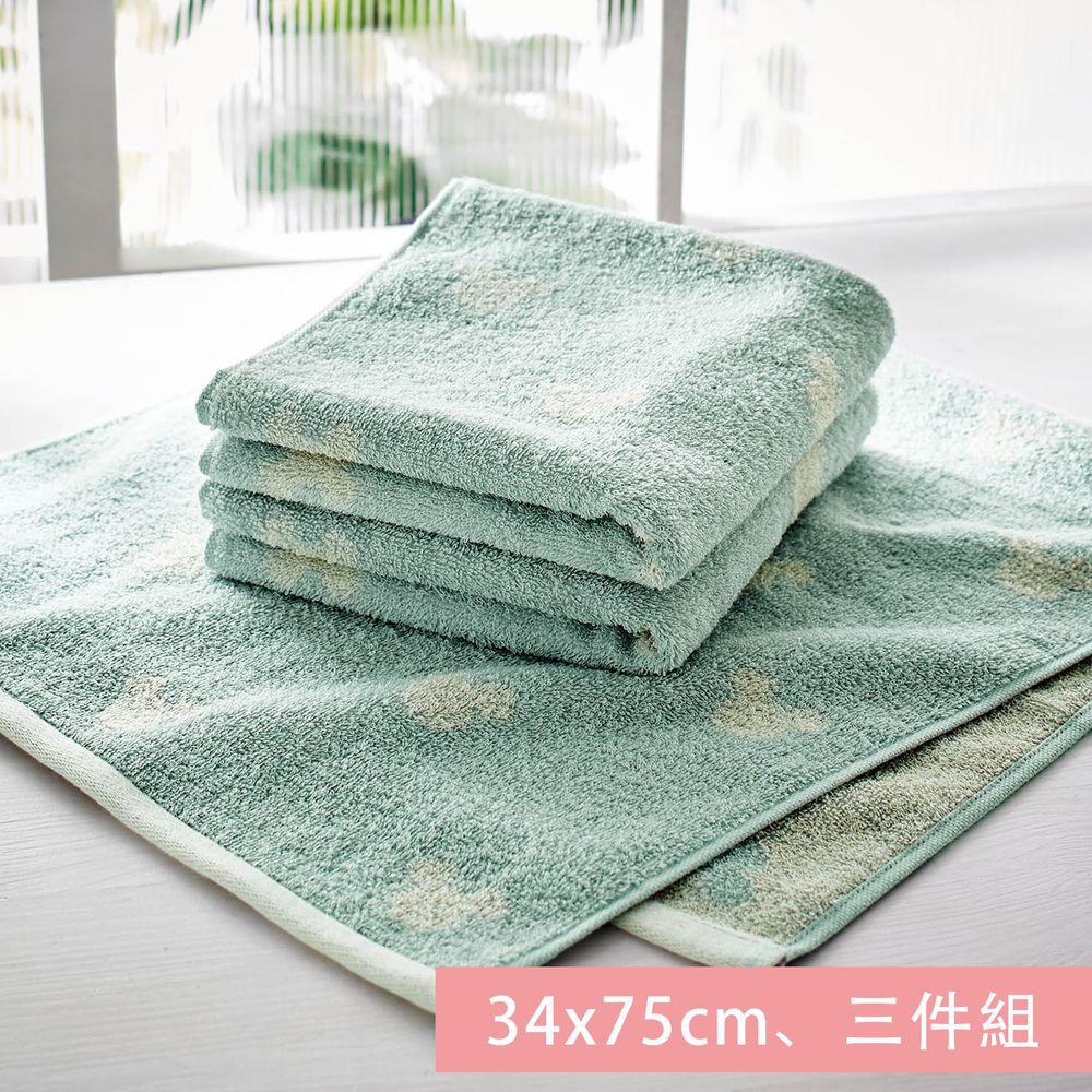 日本千趣會 - 迪士尼 純棉長毛巾三件組-米奇頭-藍 (34x75cm)