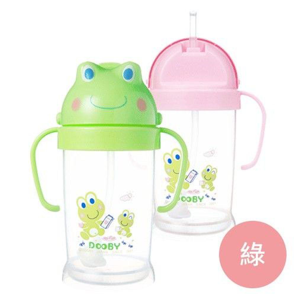 DOOBY 大眼蛙 - 卡通神奇喝水杯-綠色 (250mL-8個月起)