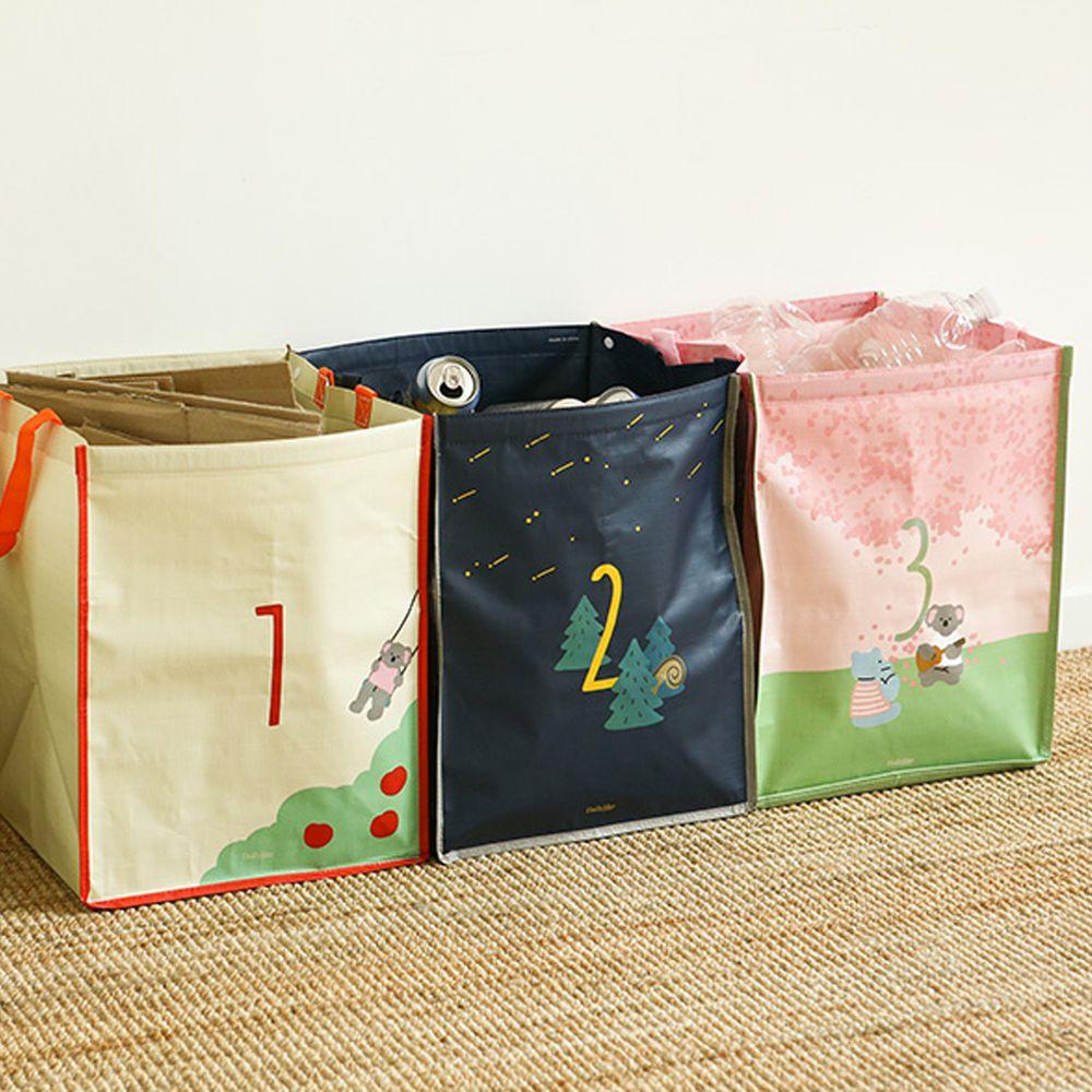 韓國 Daily Like - 組合式衣物/玩具收納袋(3入)-鞦韆X流星X櫻花