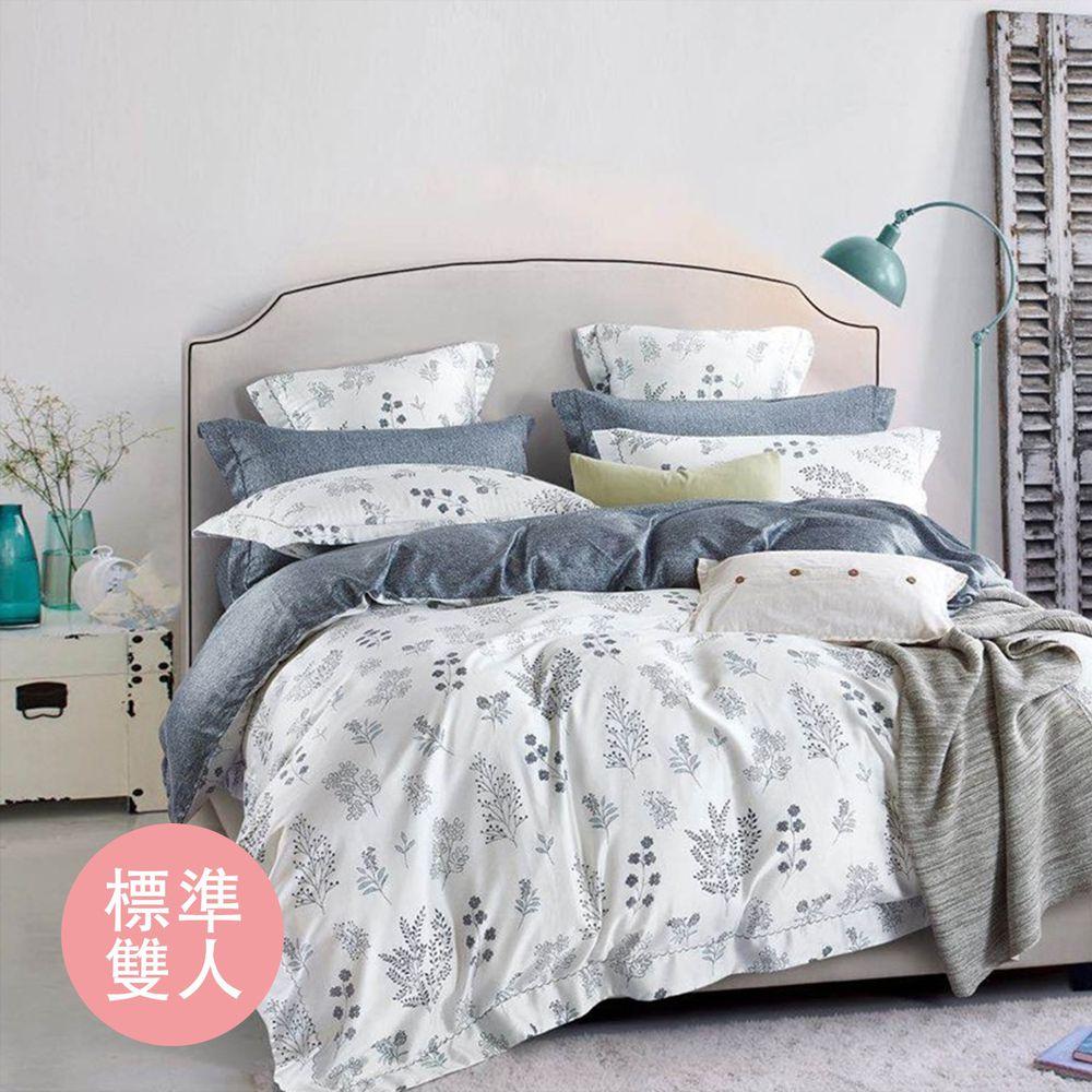 飛航模飾 - 裸睡天絲加高版床包組-艾美(雙人床包兩用被四件組) (標準雙人 5*6.2尺)