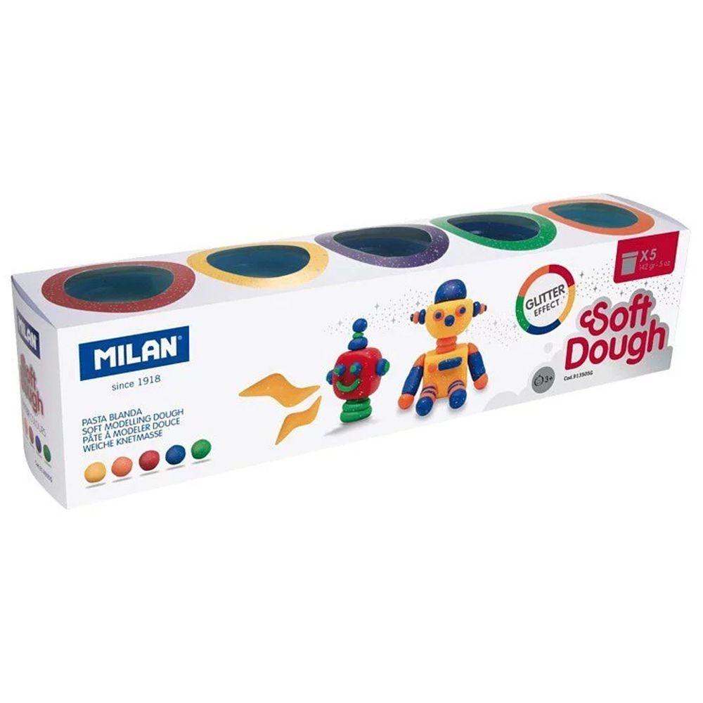 MILAN - 捏捏麵團好好玩黏土-閃光糰子(5色入)