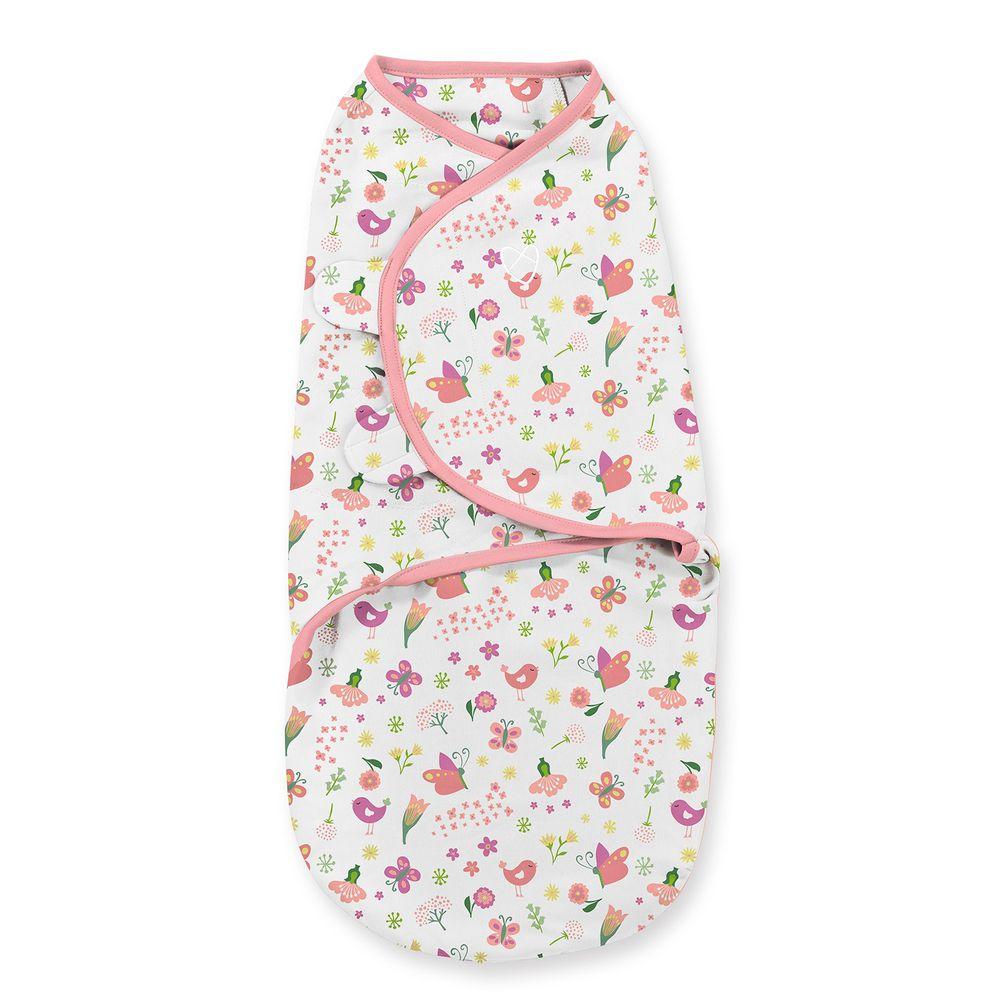 Summer Infant - 聰明懶人育兒包巾-花香鳥語-適用年齡:0~3個月
