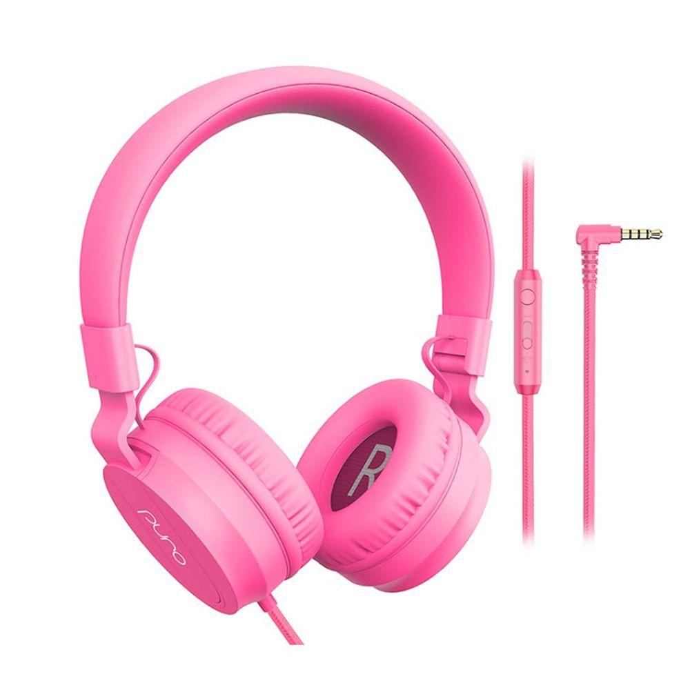 PURO SOUND LAB - PuroBasic 兒童耳機-附麥克風-粉紅色 (18 x 16.5 x 7.5 cm)