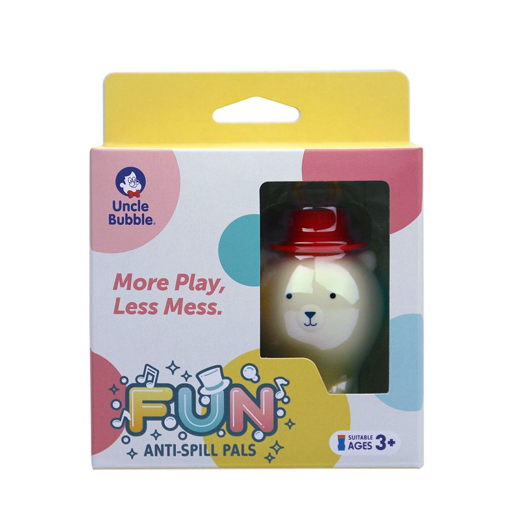 安可堡 Uncle Bubble - 【人氣款】不灑的泡泡瓶-白熊(新紙盒包裝)