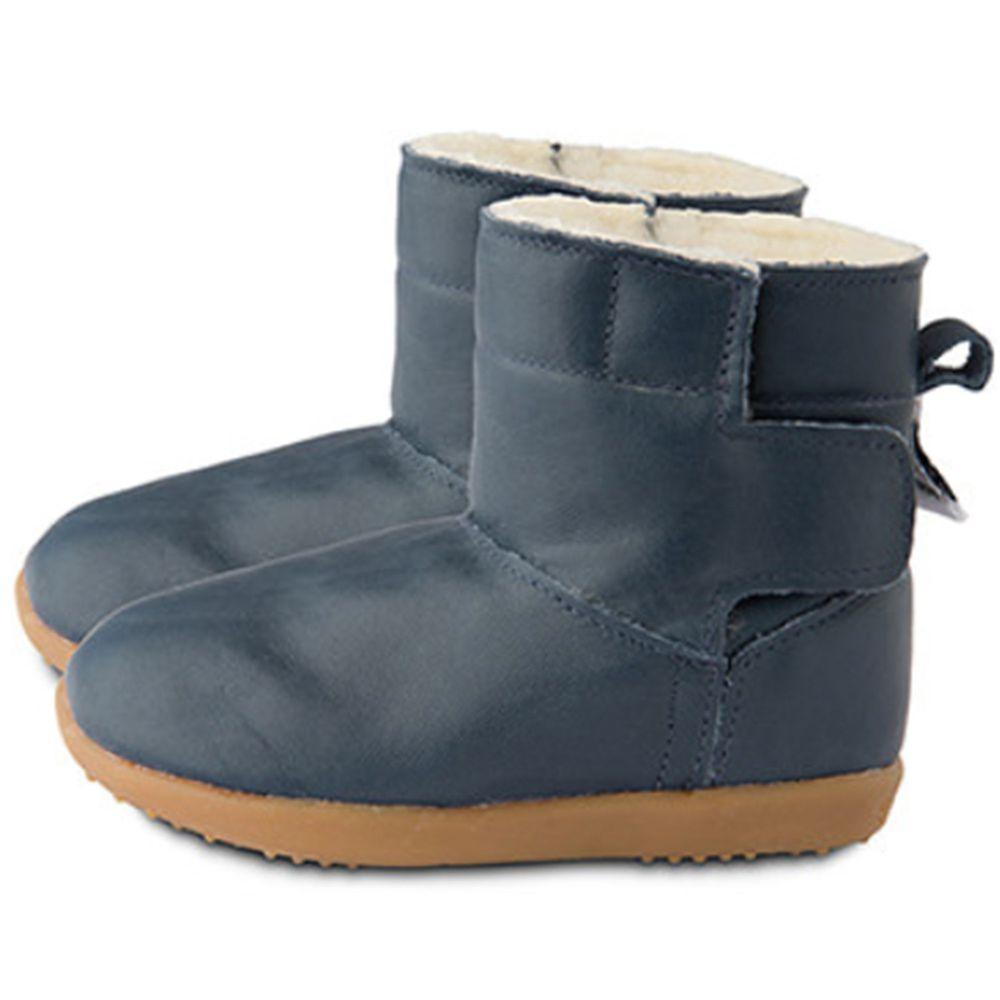 英國 shooshoos - 健康無毒真皮手工童鞋/靴子-經典深藍