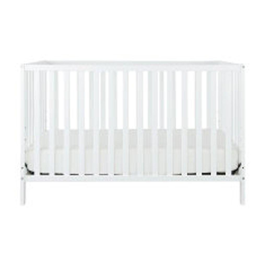 Rockland - 喬依思4合1環保漆實木嬰兒床-贈床墊 護欄-經典白-70x130cm