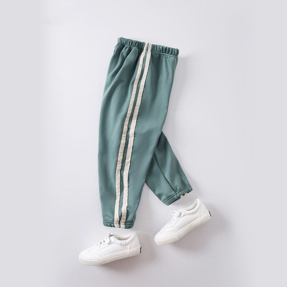 溫暖加絨運動束口褲-湖水綠