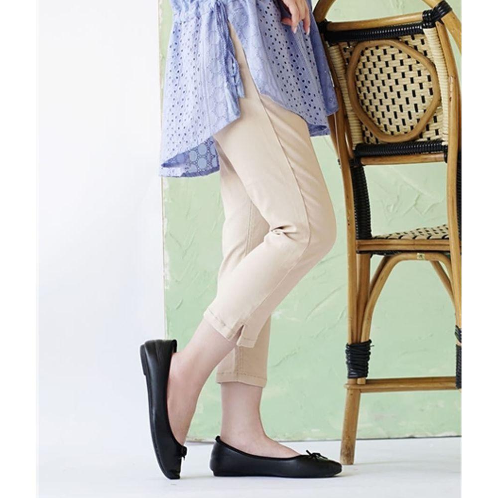 日本 zootie - Air Pants 輕薄彈性修身七分褲-淺杏