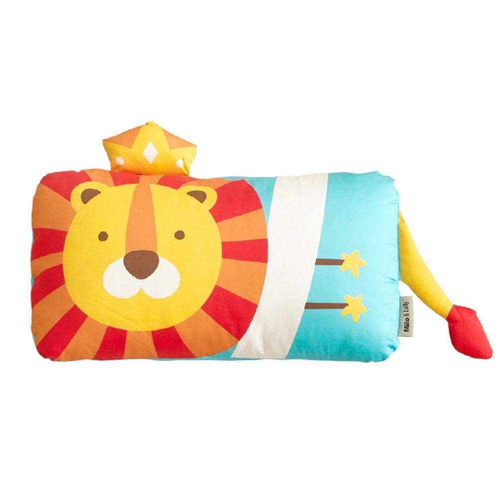 美國 Milo & Gabby - 動物好朋友-可水洗防蹣枕心+枕套組-LONNIE小獅王 (mini枕-1歲以上)