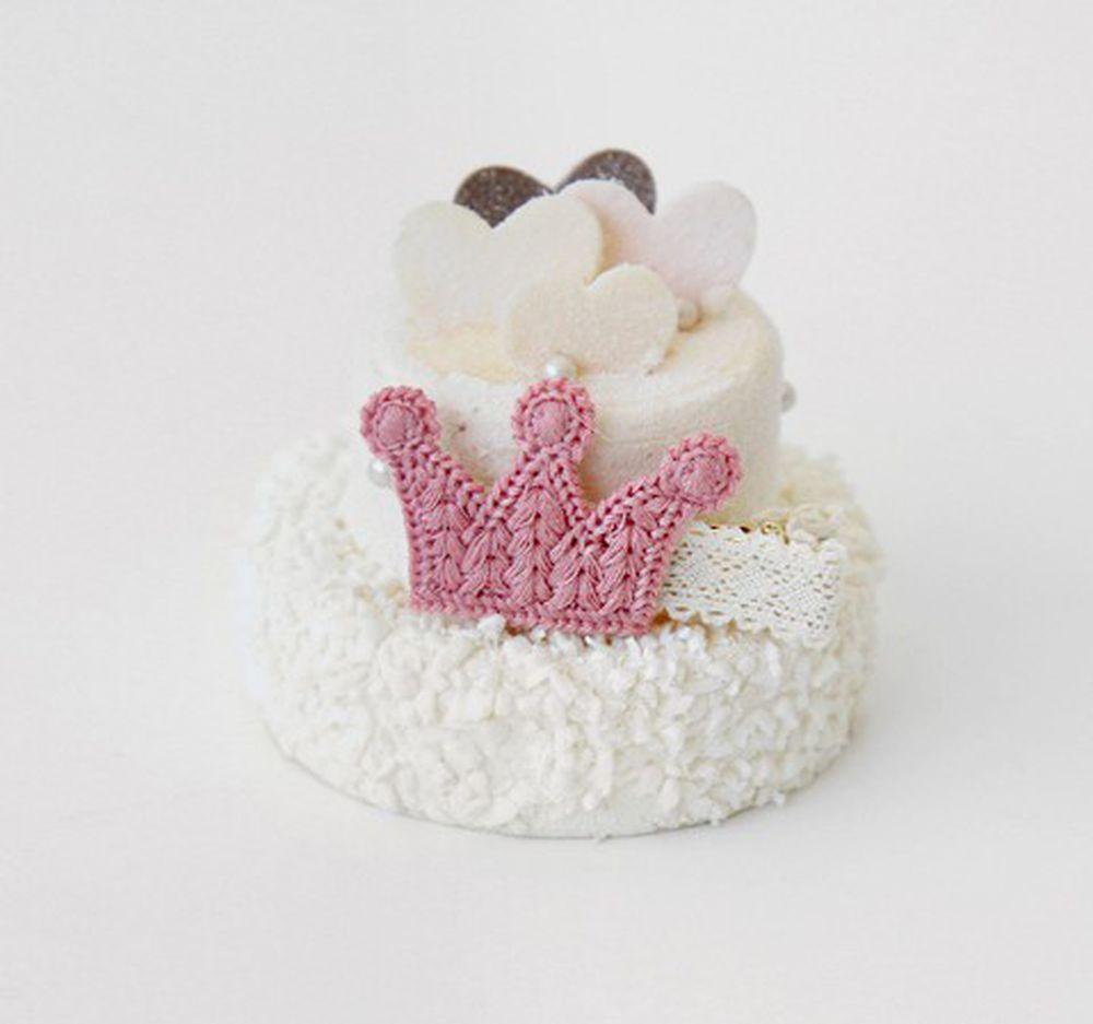 韓國 Babyblee - 皇冠編織小髮夾/髮飾-粉紅