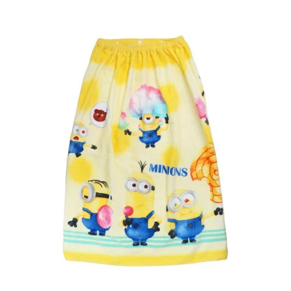 日本服飾代購 - 純棉海灘/游泳浴巾/浴袍 (附釦)-小小兵糖果 (長80cm(國小中年級以上))