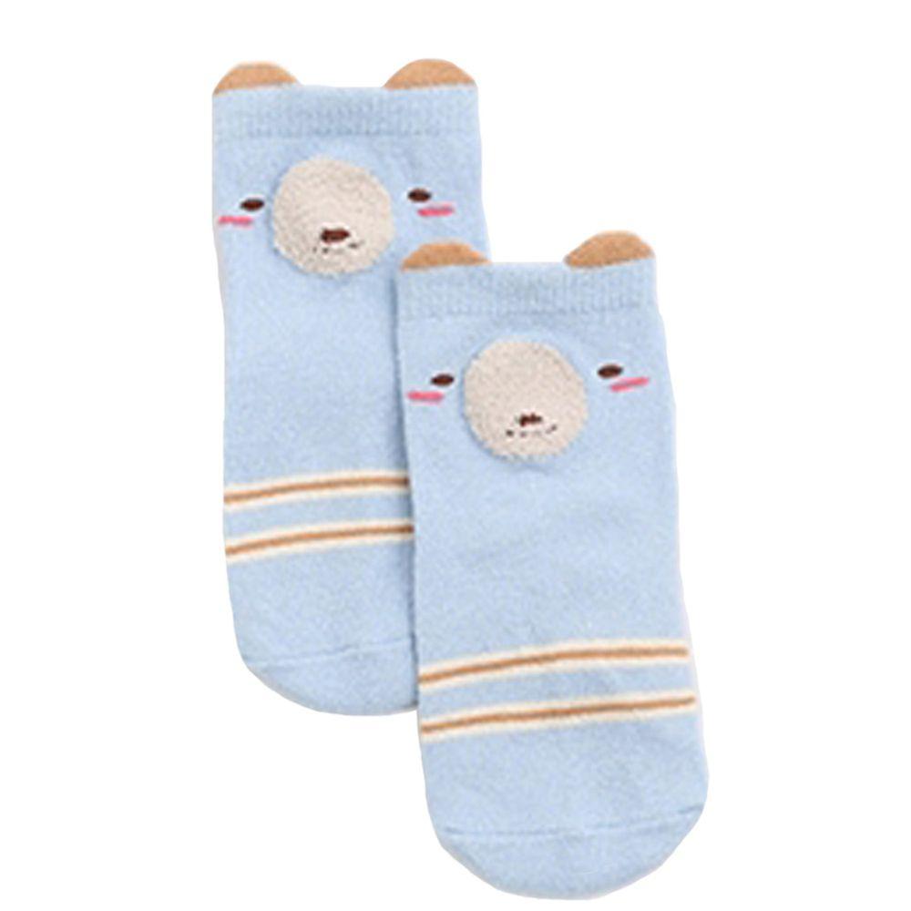 JoyNa - JoyNa簡約動物中筒襪(底部止滑)-B款-藍色羊駝