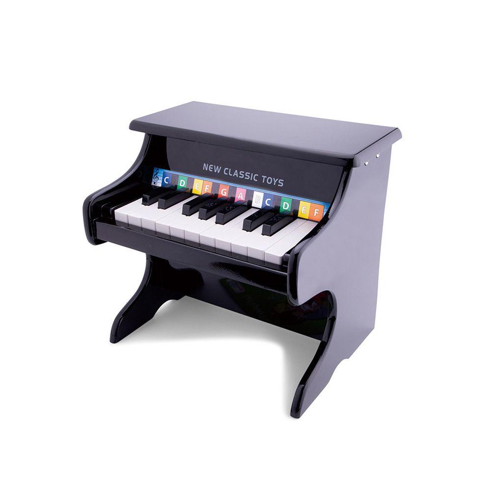 荷蘭 New Classic Toys - 【新品】幼兒18鍵鋼琴玩具-沉穩黑
