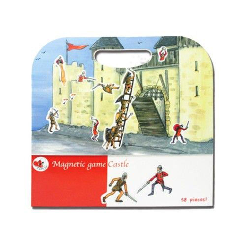比利時艾格蒙 - 繪本風磁鐵書-守護快樂城堡-25x24x1 cm