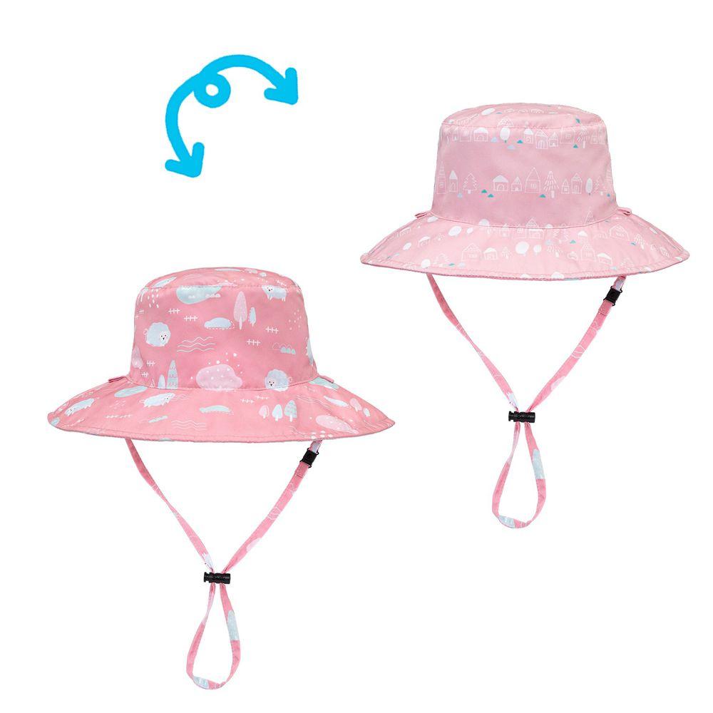 Brille Brille - 雙面防曬漁夫帽-夢幻農莊 (3-6歲(頭圍45-55cm))-附收納網袋