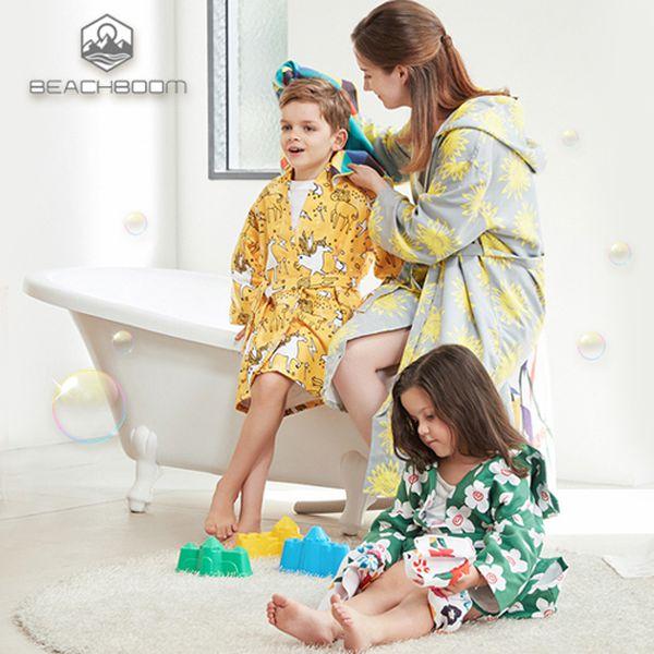 韓國 普普風親子浴袍 ✿ 抗菌 機能性吸水纖維 防塵又防蟎