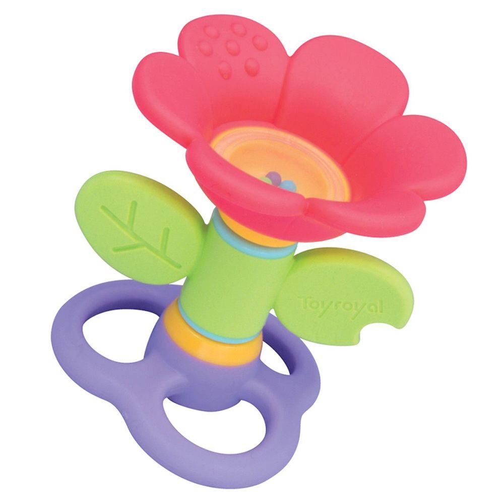 日本 Toyroyal 樂雅 - LOVE系列-花朵搖鈴固齒玩具-3M以上