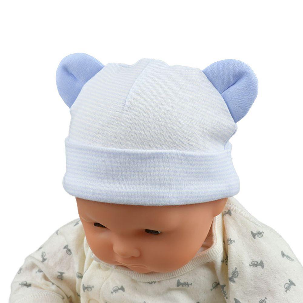 akachan honpo - 熊耳帽-淺藍色 (36~40cm)