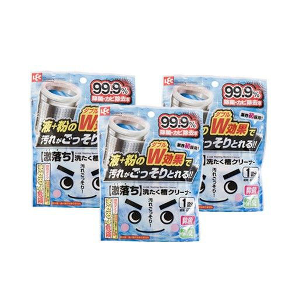 日本 LEC - 洗衣槽清潔劑3入組-140g x 3包