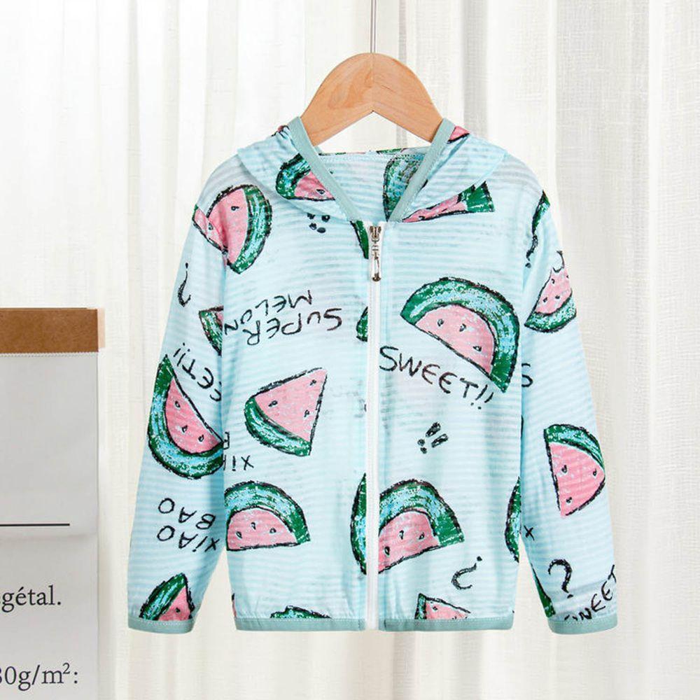 純棉舒適防蚊防曬外套-綠色西瓜