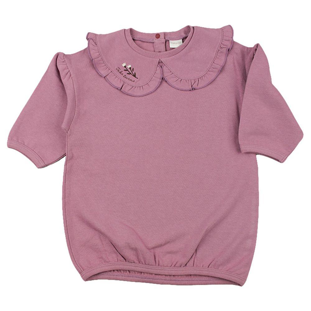 akachan honpo - 領子洋裝-紫色