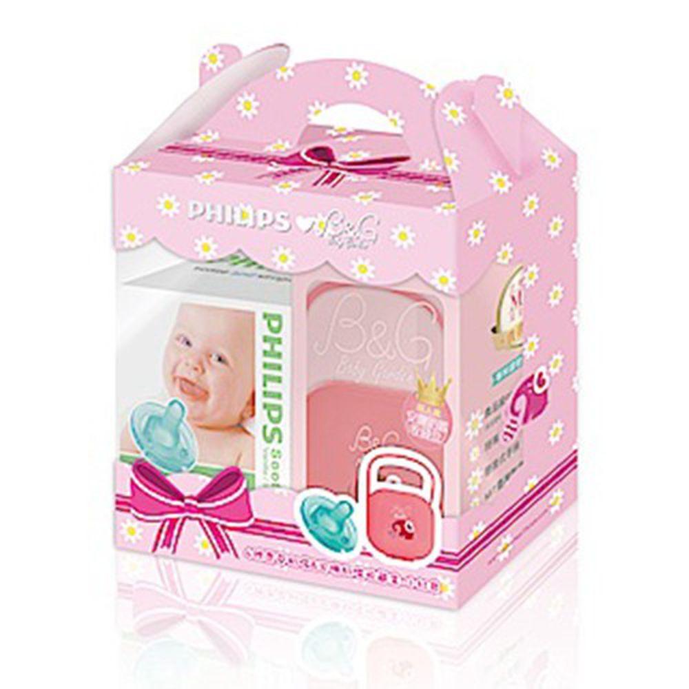 PHILIPS 飛利浦 Soothie - 原味奶嘴禮盒-小紅象-4號奶嘴+收藏盒