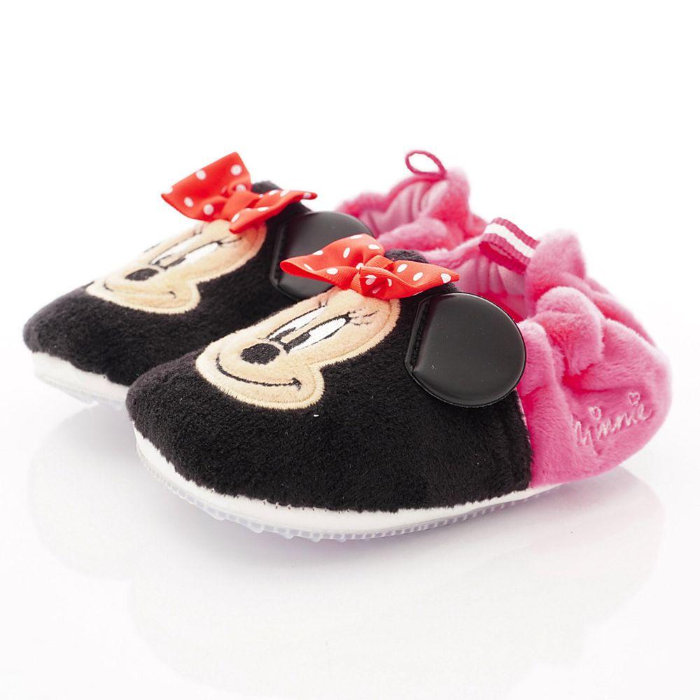 Disney - 迪士尼童鞋-米妮電繡絨毛學步鞋款 (寶寶段)-黑桃