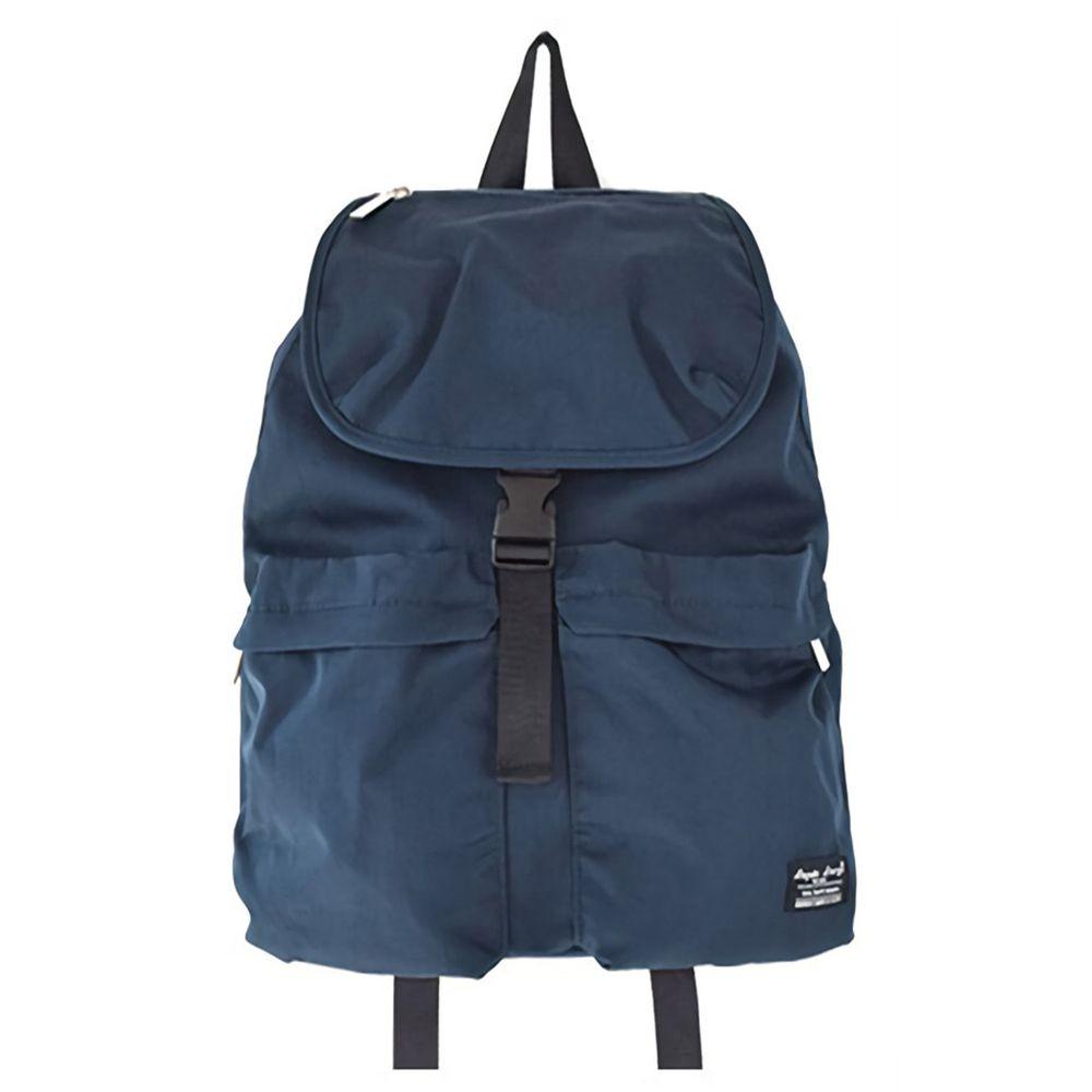 日本 Legato Largo - 撥水扣翻式防水尼龍後背包-NV海軍藍 (25x38x15cm)-預購