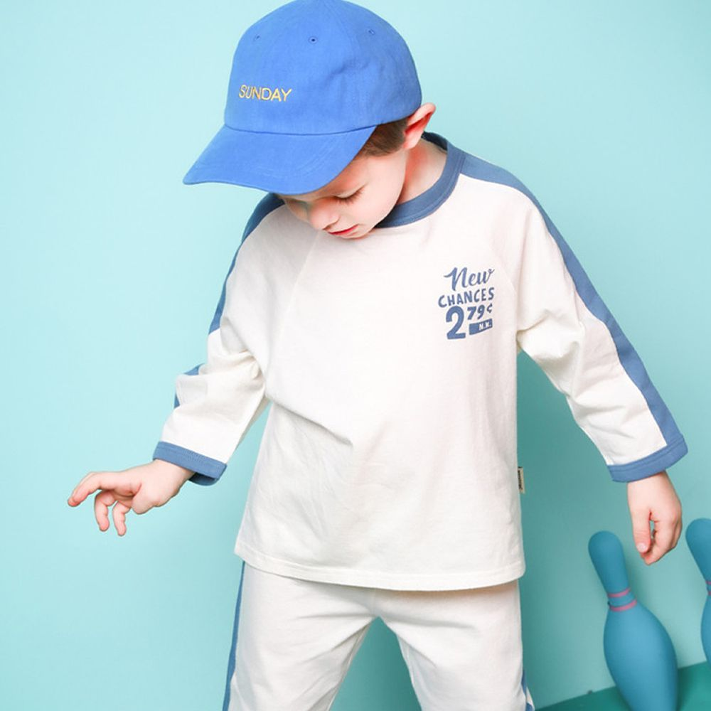 韓國 Jelispoon - 寬鬆舒適感運動風套裝-藍