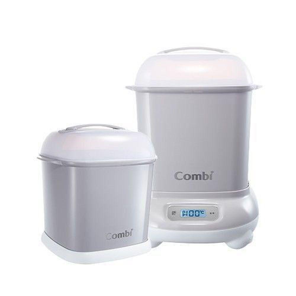 日本 Combi - Pro 360高效消毒烘乾鍋-1 + 1 實用組-寧靜灰-高效烘乾消毒鍋+奶瓶保管箱