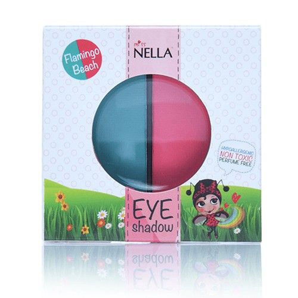 Miss NELLA妮娜小姐 - Miss NELLA 兒童水性眼影-紅鶴森林 (紅/綠)-1.5g*2