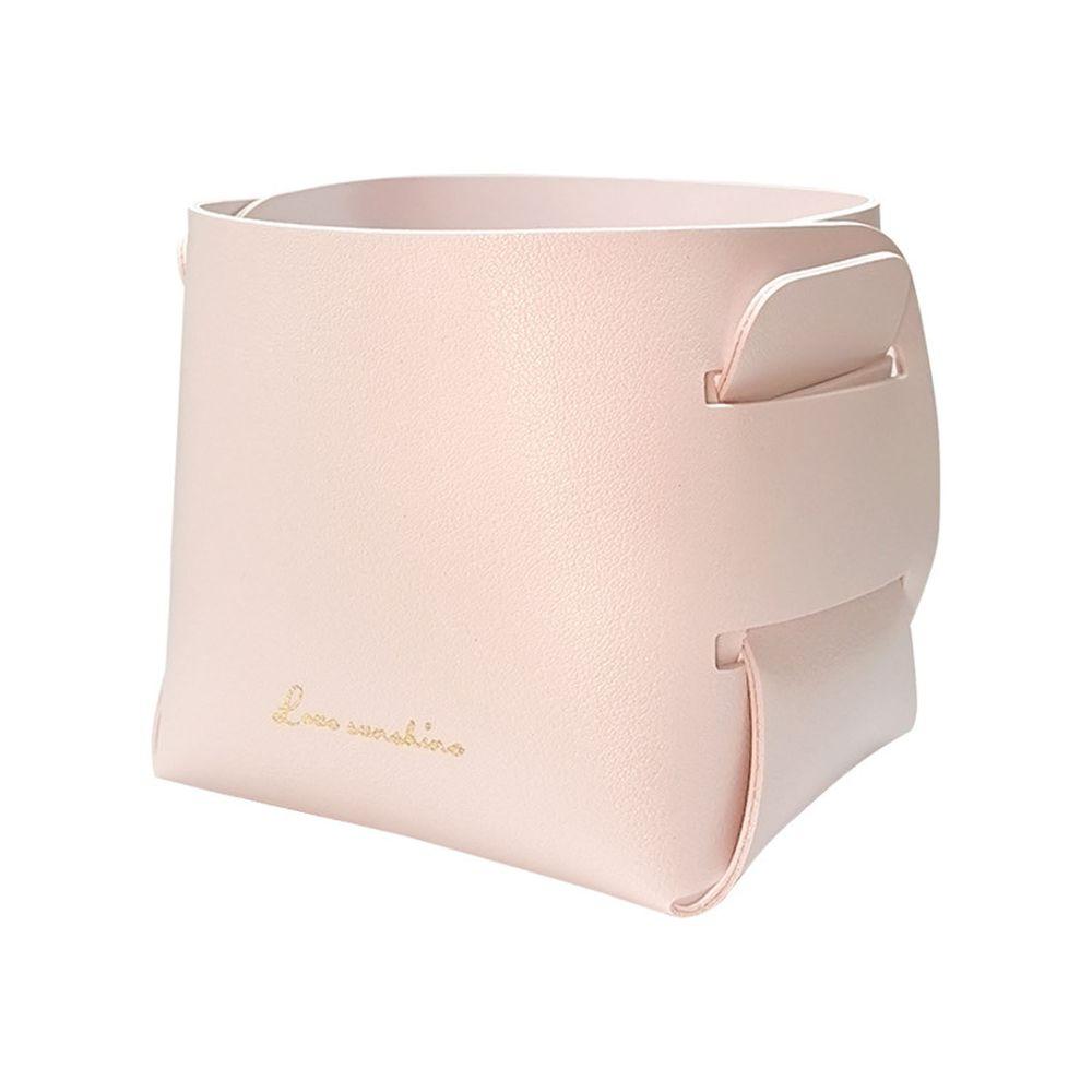 北歐簡約風皮質收納盒-粉色