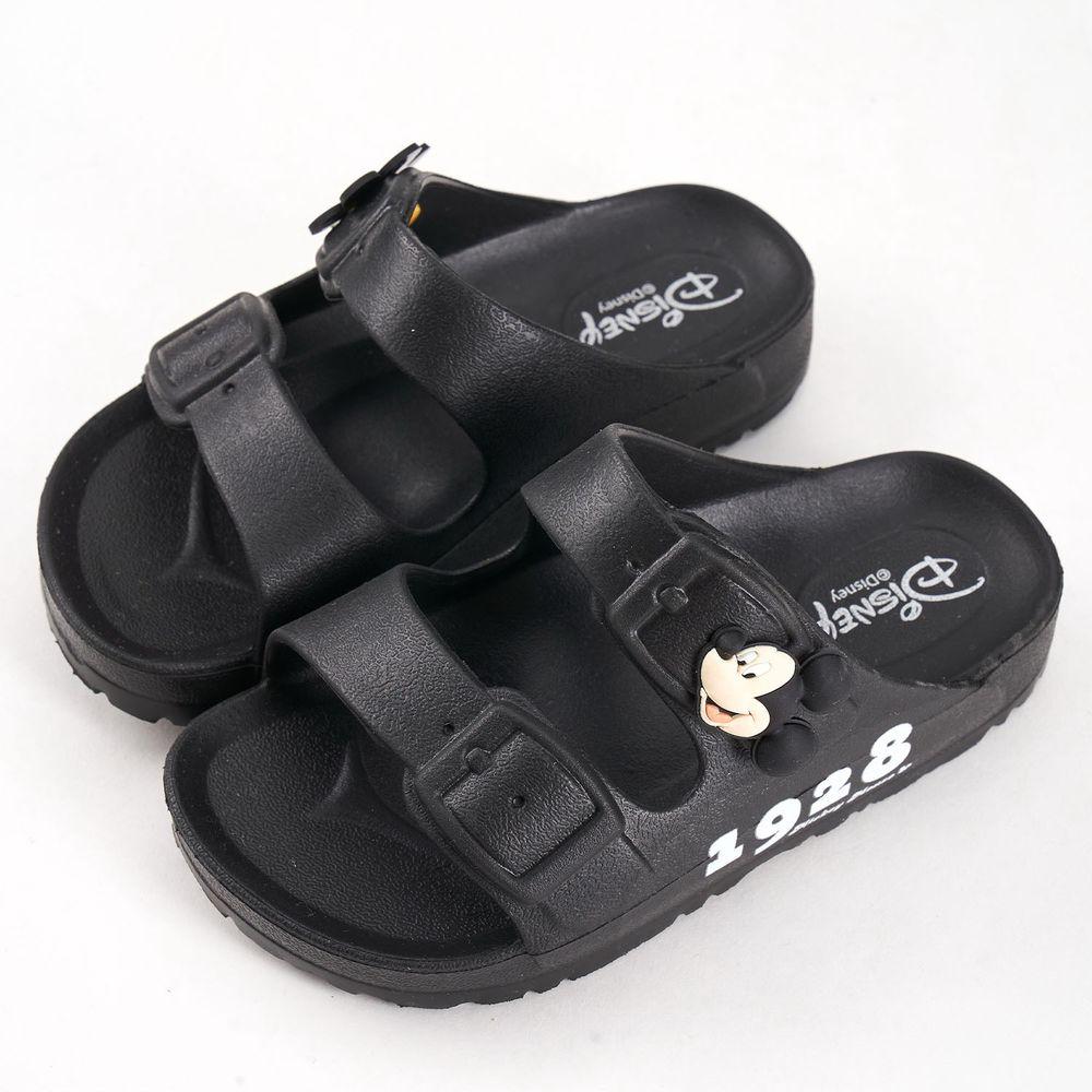 akachan honpo - 米奇立體造型防水拖鞋-黑色