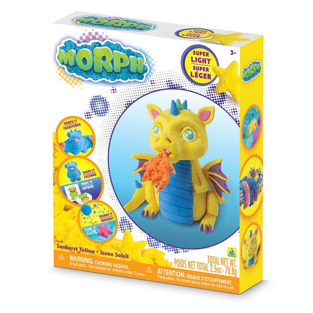 瑞典 MORPH - 【基本備色】魔塑黏土-黃 (L)-70.8g