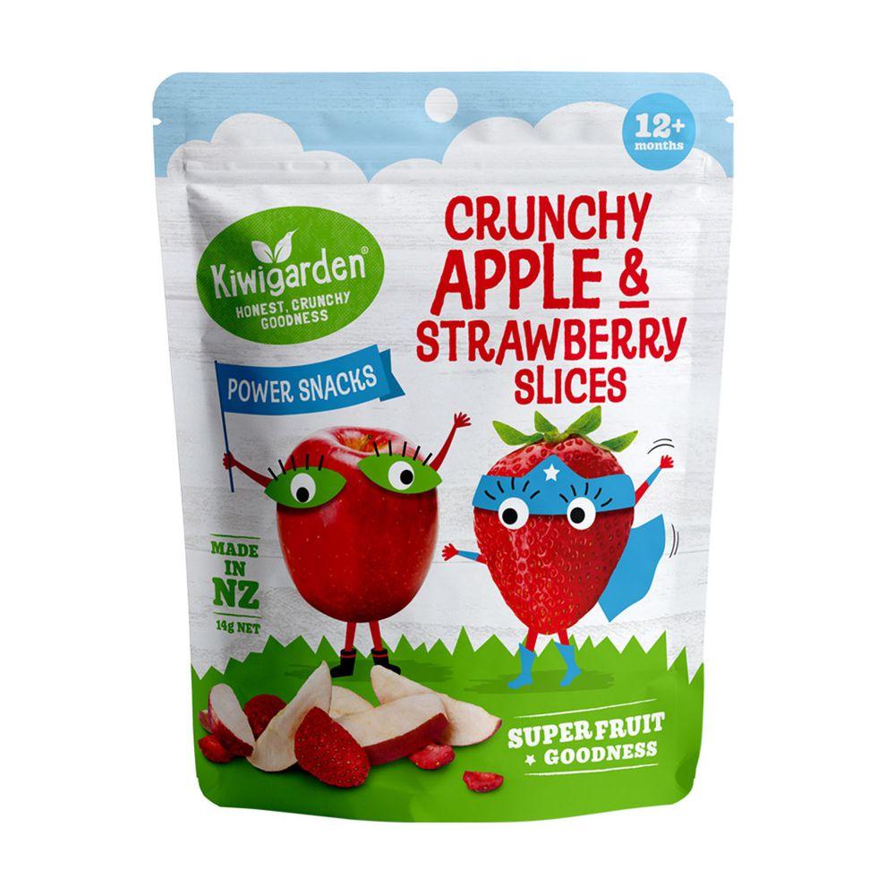 皮皮奧斯 - Kiwigarden 優格餅(蘋果/草莓)冷凍乾燥水果14g-效期:2022/6/19
