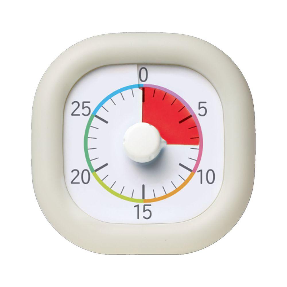 日本文具 SONIC - 時間流逝實感 倒數時鐘/倒數器-30mins版-象牙白 (10cm)