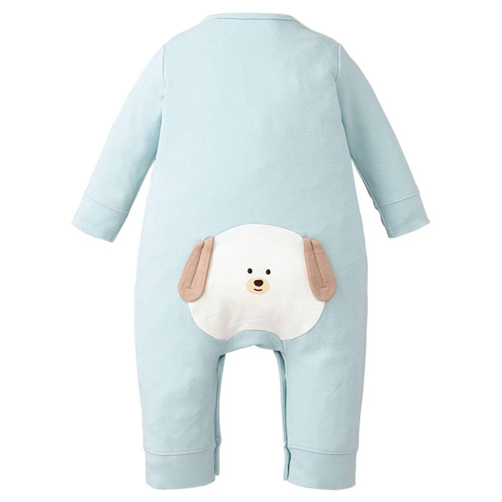 akachan honpo - 長袖兔裝-動物造型屁屁-淺藍色