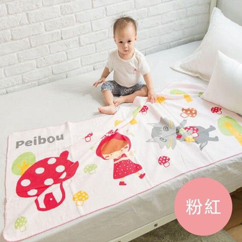 貝柔 Peilou - 童話抗菌紗布浴巾-小紅帽-粉紅 (70x140cn)