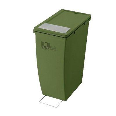 雙用造型垃圾桶-綠色-21L