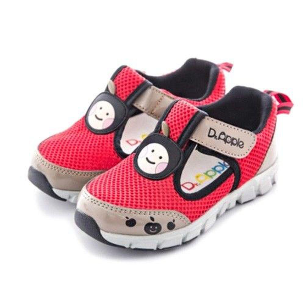 Dr. Apple - 機能童鞋-經典蘋果透氣休閒款-紅