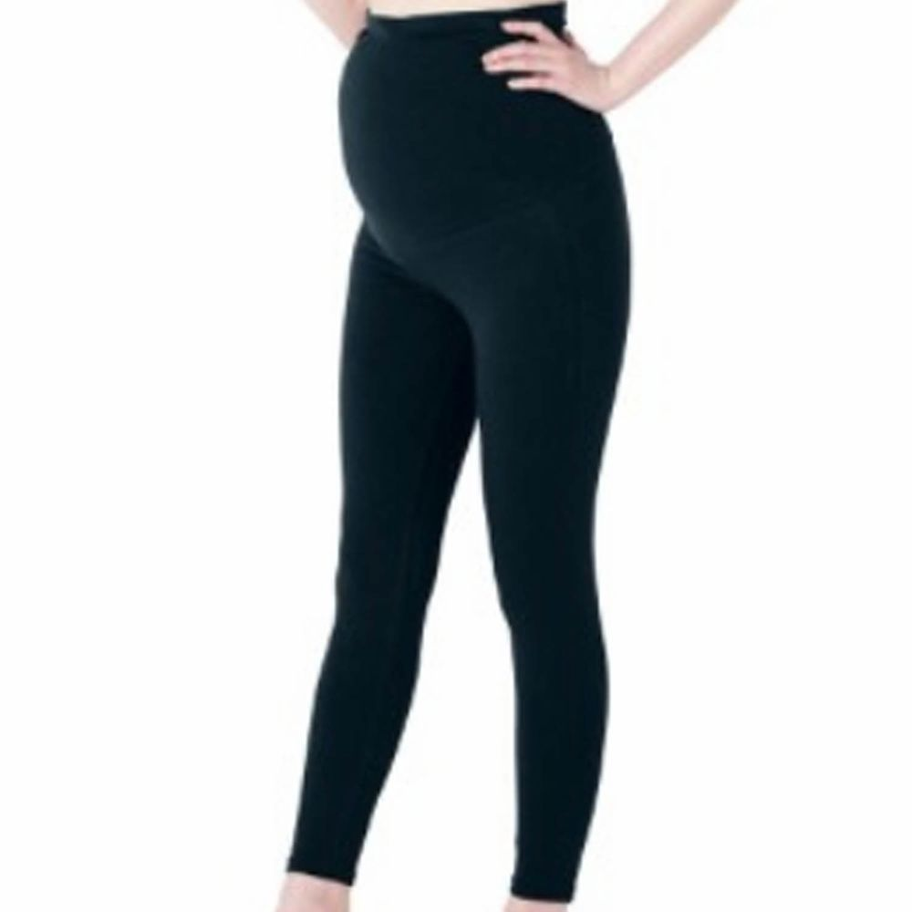 日本千趣會 - 90%棉 孕產發熱褲-黑色