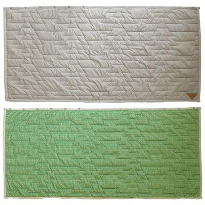 3way吸濕發熱防撥水機能毯-鋸齒衍縫-灰X綠 (140x65cm)