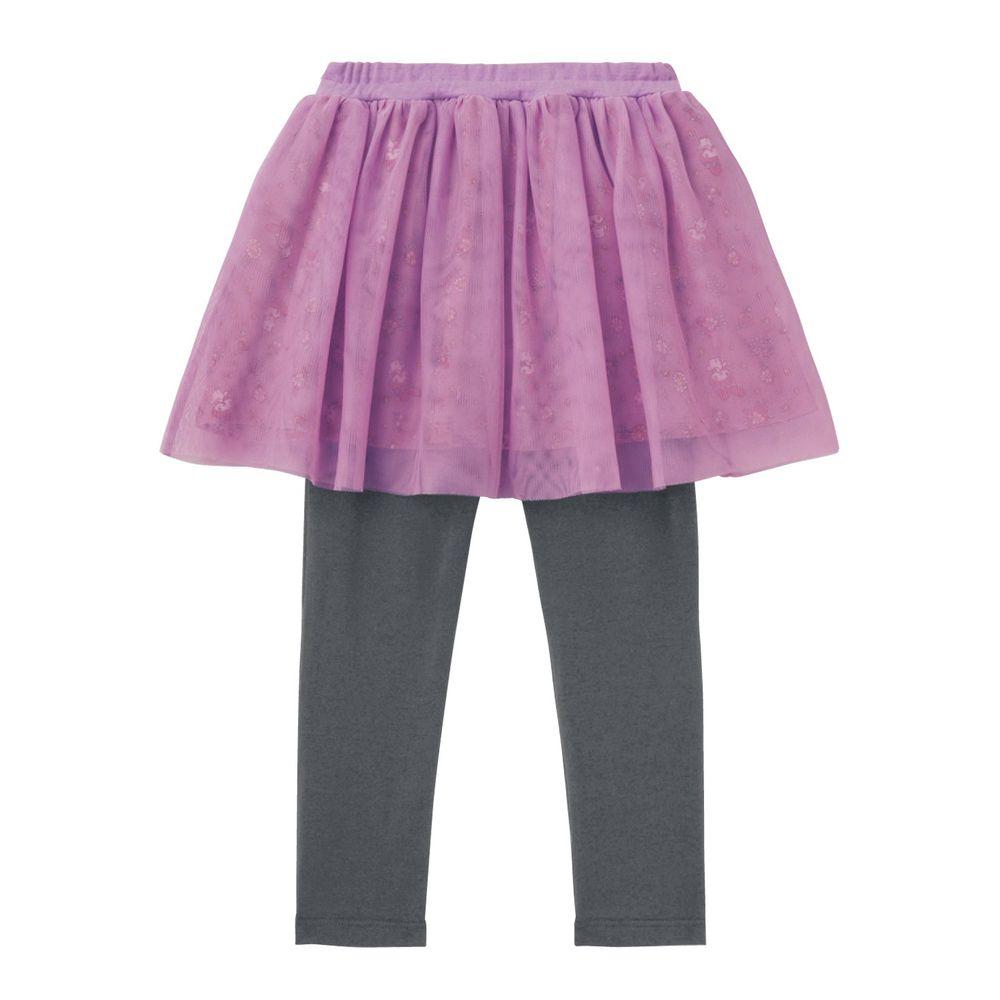 日本千趣會 - 三麗鷗紗裙內搭褲裙-美樂蒂-紫灰