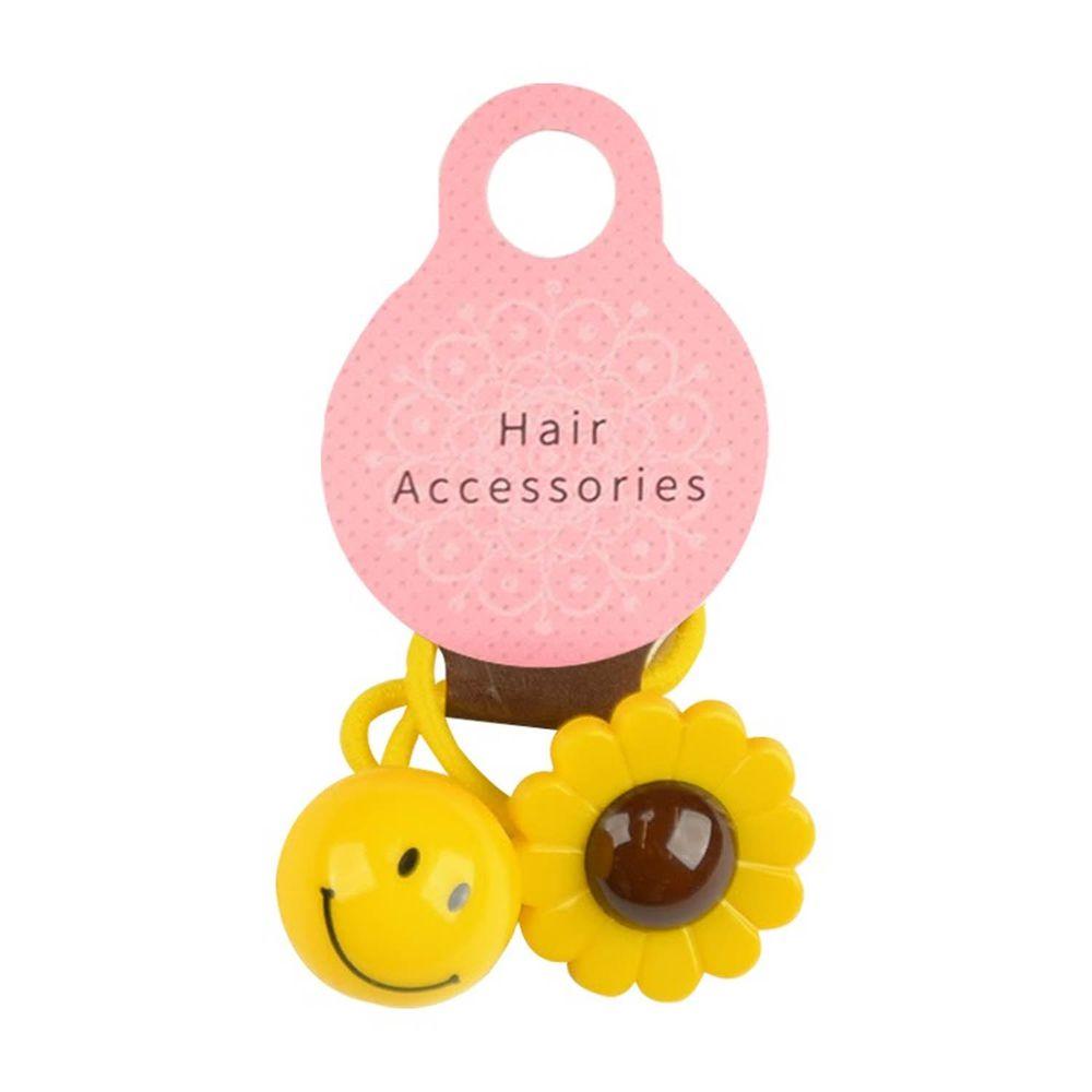 akachan honpo - 髮圈-笑臉向日葵-黃色