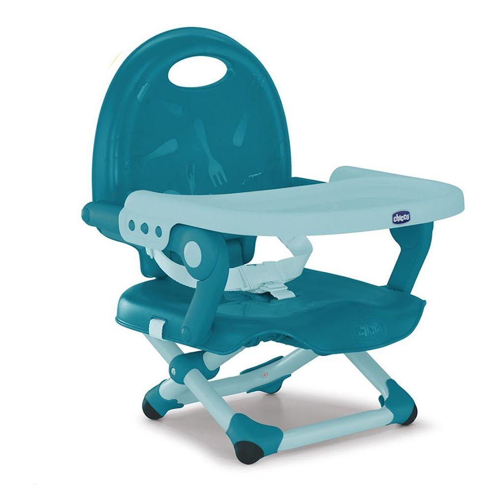 義大利 chicco - Pocket snack攜帶式輕巧餐椅-土耳其藍