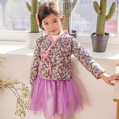 浪漫生活韓服(背心裙兩件式)-氣質茱萸-淺紫