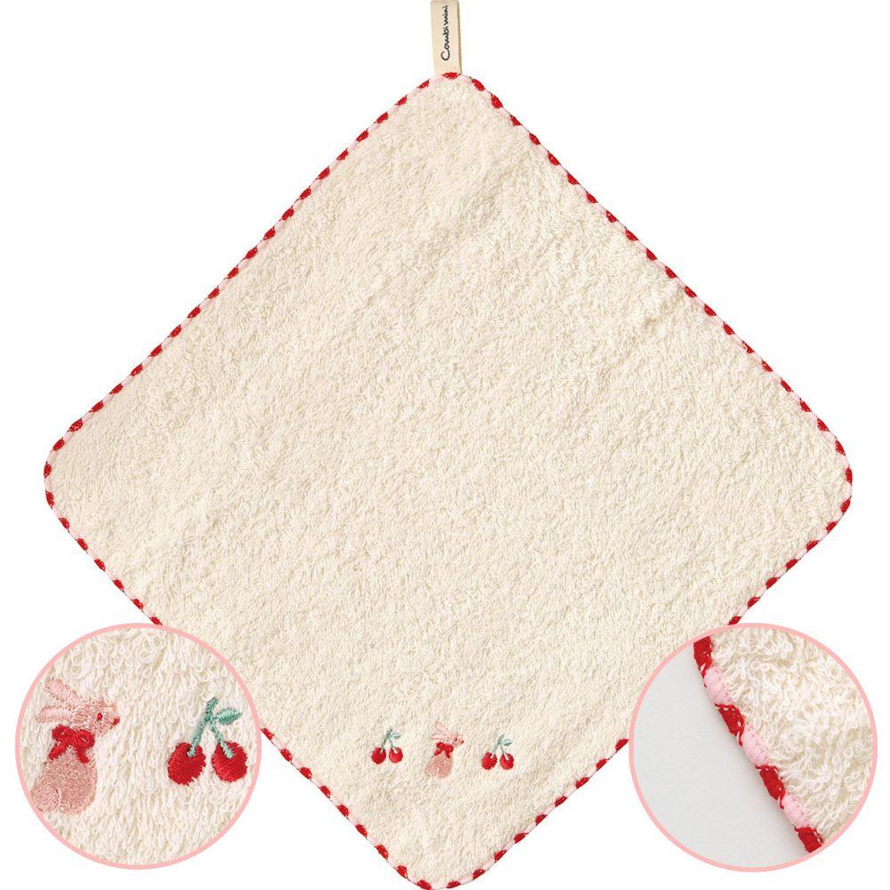 日本 Combi - mini系列-日本有機棉今治方巾-紅 (F (23x23cm))