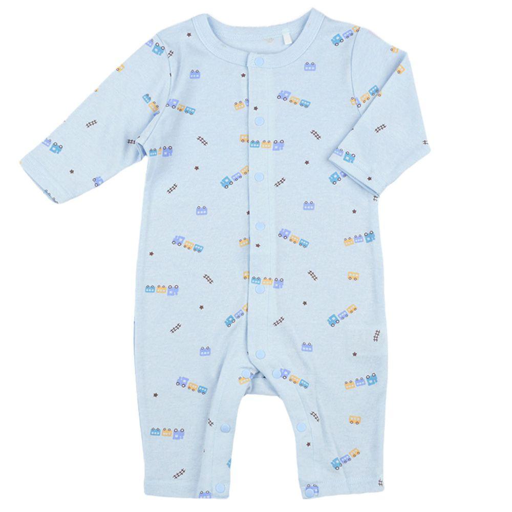 akachan honpo - 男長袖兔裝-玩具-淺藍色